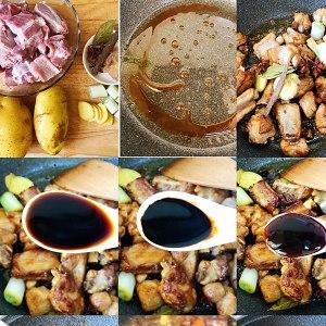 红烧排骨炖土豆的做法 步骤1