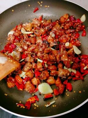 超下饭的辣子鸡丁的做法 步骤10