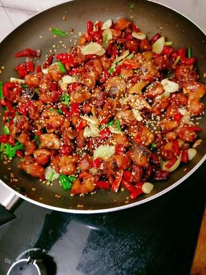 超下饭的辣子鸡丁的做法 步骤12