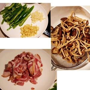 五花肉干锅茶树菇的做法 步骤1