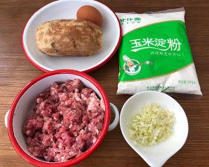 莲藕肉丸子~的做法 步骤1