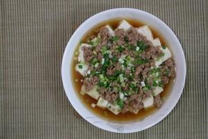 肉末蒸豆腐的做法 步骤6