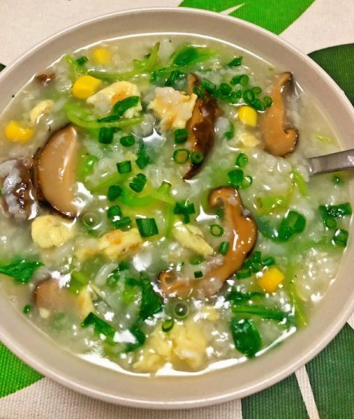 健康美味素食青菜粥的做法