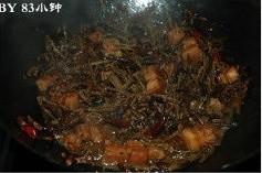 干豆角烧肉的做法 步骤6