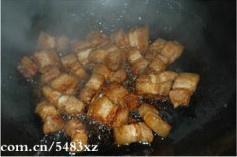 干豆角烧肉的做法 步骤4