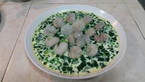 菠菜虾仁蒸蛋的做法 步骤19
