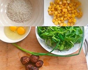 健康美味素食青菜粥的做法 步骤1