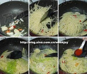 酸辣土豆丝的做法 步骤4