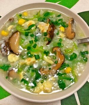 健康美味素食青菜粥的做法 步骤7