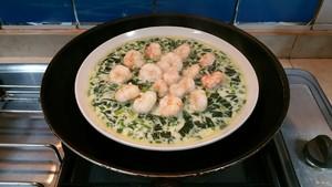 菠菜虾仁蒸蛋的做法 步骤22